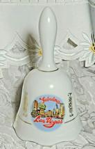 """Vintage Fabulous Las Vegas NV Ceramic Collector Souvenir Hand Bell 5.25"""" image 2"""
