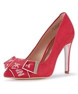 JENN ARDOR Women's Stiletto High Heel Pumps Pointy Toe Bowknot Slip On B... - $39.75