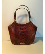 Authentic Brahmin Pecan Marianna Embossed Croco Leather NWT G Receipt - $197.99