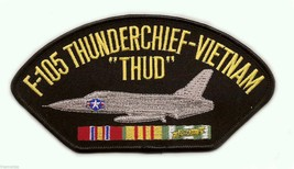 "F-105 THUNDERCHIEF THUD  VIETNAM VETERAN EMBROIDERED 6"" SERVICE RIBBON  ... - $17.14"