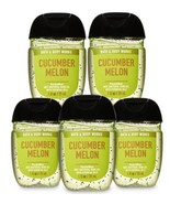 Bath and Body Works Pocketbac CUCUMBER MELON Antibacterial Hand Gel 5 pa... - $22.99