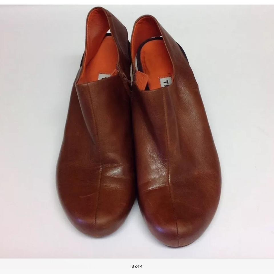 Tsubo Tan Sling Back Leather Pumps Size: US 8
