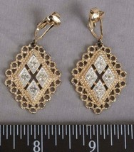 Vintage Sarah Coventry Signed Clip On Earrings Jewelry jds2 - $14.84
