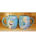 Frozen Olaf & Elsa Pattern Disney Branded mug new set of 2 18 oz ea - $30.68