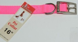 Valhoma 730 16 HP Dog Collar Hot Pink Single Layer Nylon 16 inches Package 1 image 2