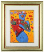 "Set of 3 Ceramic Porcelain Prints by Peter Max Franklin Mint 16.5"" x 14""... - $1,767.08"
