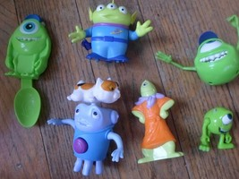 Lot Of 6 Monsters Inc Action Figures + 1 Spoon Disney  + 2 Aliens + 3 monsters - $6.49