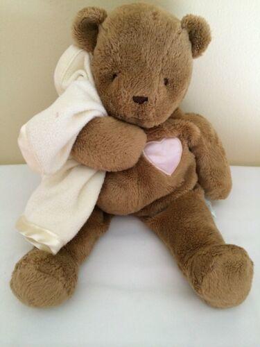 "Eden Tender Tones Stuffed Bear with Security Blanket Brown Cream 12"" - $47.52"
