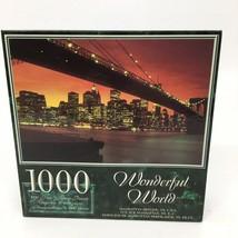 "New -Wonderful World 1000 pc. Puzzle ""Manhattan Skyline, NY."" (28.75"" x ... - $18.69"
