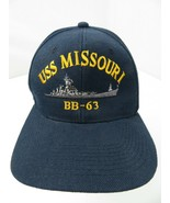 USS Missouri BB-63 (Broken Snapback) Adult Cap Hat - $12.86