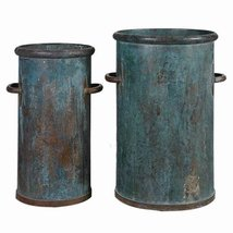 Uttermost 2-Pc Tarnished Copper Cans - $206.80