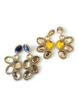 Statement Earrings, Unique Earrings, Big Earrings, Bead Embroidery, Cham... - $46.00