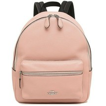 NWT COACH Medium Charlie Backpack Cute Leather School Petal Pink Silver ... - $144.54
