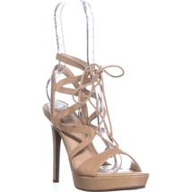 Guess Aurela Lace Up Strappy Sandals, Medium Natural, 9.5 US - £26.97 GBP