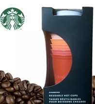 Starbucks Winter Christmas Holiday 2019 Reusable Hot Cups 6 Pack 16 Oz New - $26.62