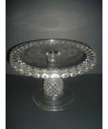 EAPG Pineapple Stem Antique Glass Cake Stand Salver Plate - $97.49