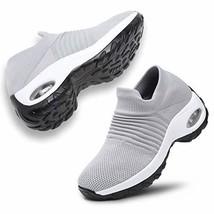 ANLUKE Women's Walking Shoes Mesh Sneakers - Slip On Air Cushion Platfor... - $33.85