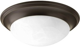 Progress Lighting  Flush Mount Light 2-Light Dimmable Metal Antique Bronze - $67.92