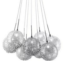 Bazz Lume P12429CH 9-Lights chrome ball or cluster mesh pendant Suspension  - $54.45