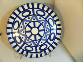 "Dansk Arabesque Sri Lanka Phillipines 10"" Deep Round Platter Blue Abstract - $59.99"