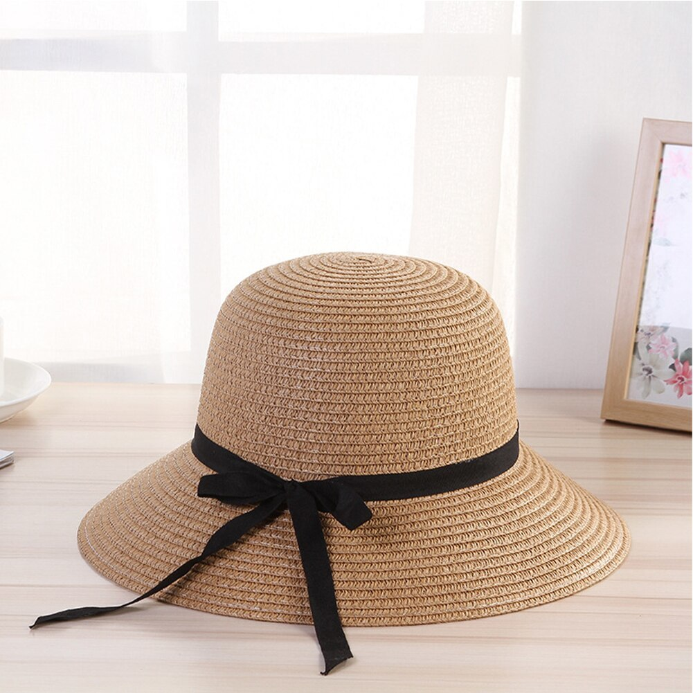 Women Travel Floppy Sun Hat Bowknot Design Summer Foldable Beach Ladies Straw Ad image 3