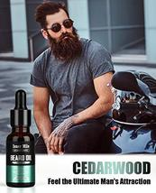 4 Pack Beard Oil Organic Leave in Conditioner Serum Kit - Cedarwood, Sandalwood, image 5