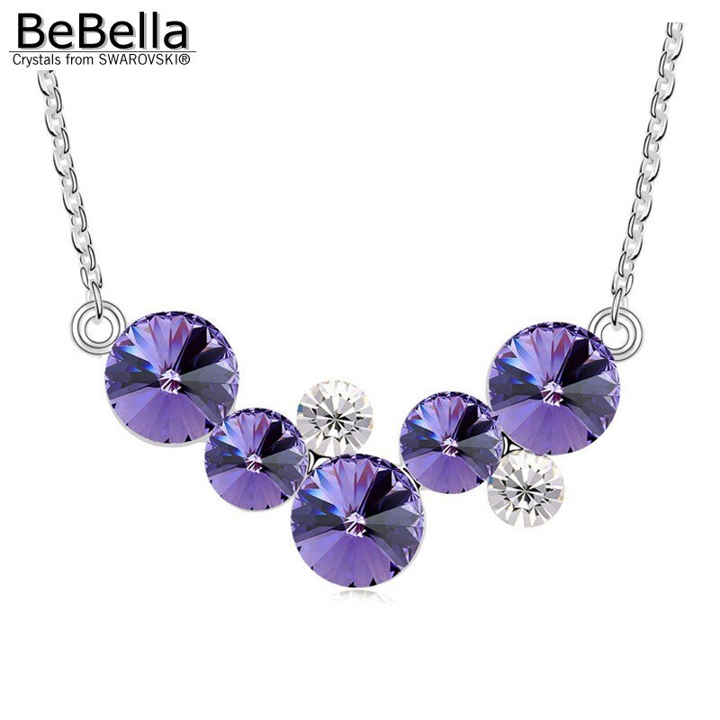 BeBella round bubbles pendant necklace with Crystals from Swarovski fashion crys image 2