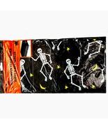 Gothic-DANCING SKELETONS BORDER TABLE CLOTH COVER-Fun Halloween Party De... - $2.82