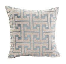 """Fennco Styles Two Tone Geometric Design Decorative Throw Pillow - 18""""x18... - $19.79"""