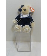 "TY ATTIC TREASURE ""BREEZY"" the Girl Sailor Bear in Display Case - $13.98"