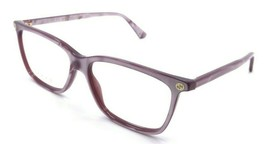 Gucci Eyeglasses Frames GG0094O 004 52-14-140 Marbled Pink Made in Italy - $215.60