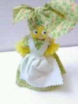 "Vintage Souvenir Tea Bell Doll ""Yellow Dress Yarn - $26.99"
