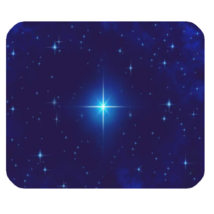 Mouse Pad Star In Blue Light At Night Beautiful Nature Design Animation Fantasy - $6.00