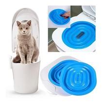 Plastic Cat Toilet Training Kit Litter Box Puppy Cat Litter Mat Toilet T... - $57.41