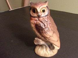"Vintage Porcelain Ceramic 6"" Owl Barn Bird Statue Figurine Japan - $21.97"