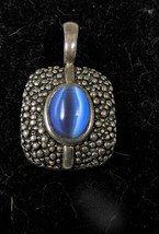Vintage Premier Design Blue Tiger Eye Pendant - $10.88