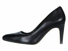 Clarks Laina Rae Black Leather Women's Classic Slip On Pumps 35174 - $69.00