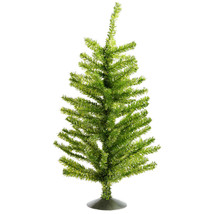 "16"" Sparkling Designer Kiwi Green Tinsel Table Top Christmas Tree- tkcc ... - $53.95"
