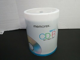 Memorex 700MB 80 Minute 52x CD-R Media 100 Pack Spindle New Sealed - $34.00