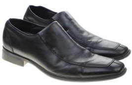 Kenneth Cole Meet U There Split Toe Moc Slip On Loafers Black Leather Sz 7M - $49.45