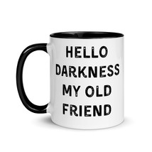 Hello darkness my old friend, coffee mug, funny gift, song lyrics, mug f... - €18,12 EUR