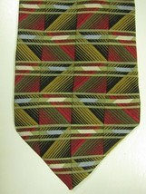 GORGEOUS Jhane Barnes Made in Japan Red and Green Geometric Silk Tie - $22.49