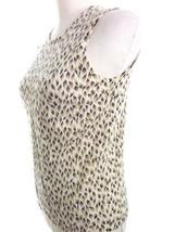 Ann Taylor Wool Sweater Vest Medium Animal Print Brown Beige Angora Blend image 2