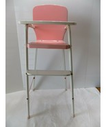 Vintage 1950s Amsco Doll-E-Hichair Pink Metal High Chair   Costco (5) - $31.68