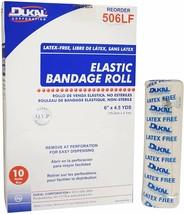 Elastic Bandages 6 Inch x 4.5 Yard Case Of 10 Non-Sterile Bandages - $25.26