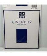 Givenchy Vintage 1990 French Ultra Sheer Light Control Top Pantyhose Blu... - $12.00