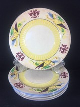 Maruhon Ware Salad Plate Hand Painted Dragon 4 Luncheon Vintage - $42.65