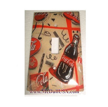 Coke Coca Cola bottles wallpaper Light Switch Outlet wall Cover Plate Home decor