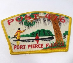 FIHA Post 476 Fort Pierce Florida Hobbyist Powwow Reenactment Vintage Patch - $31.19