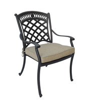 9 piece patio dining set cast aluminum St. Augustine chairs and Elisabeth table. image 2